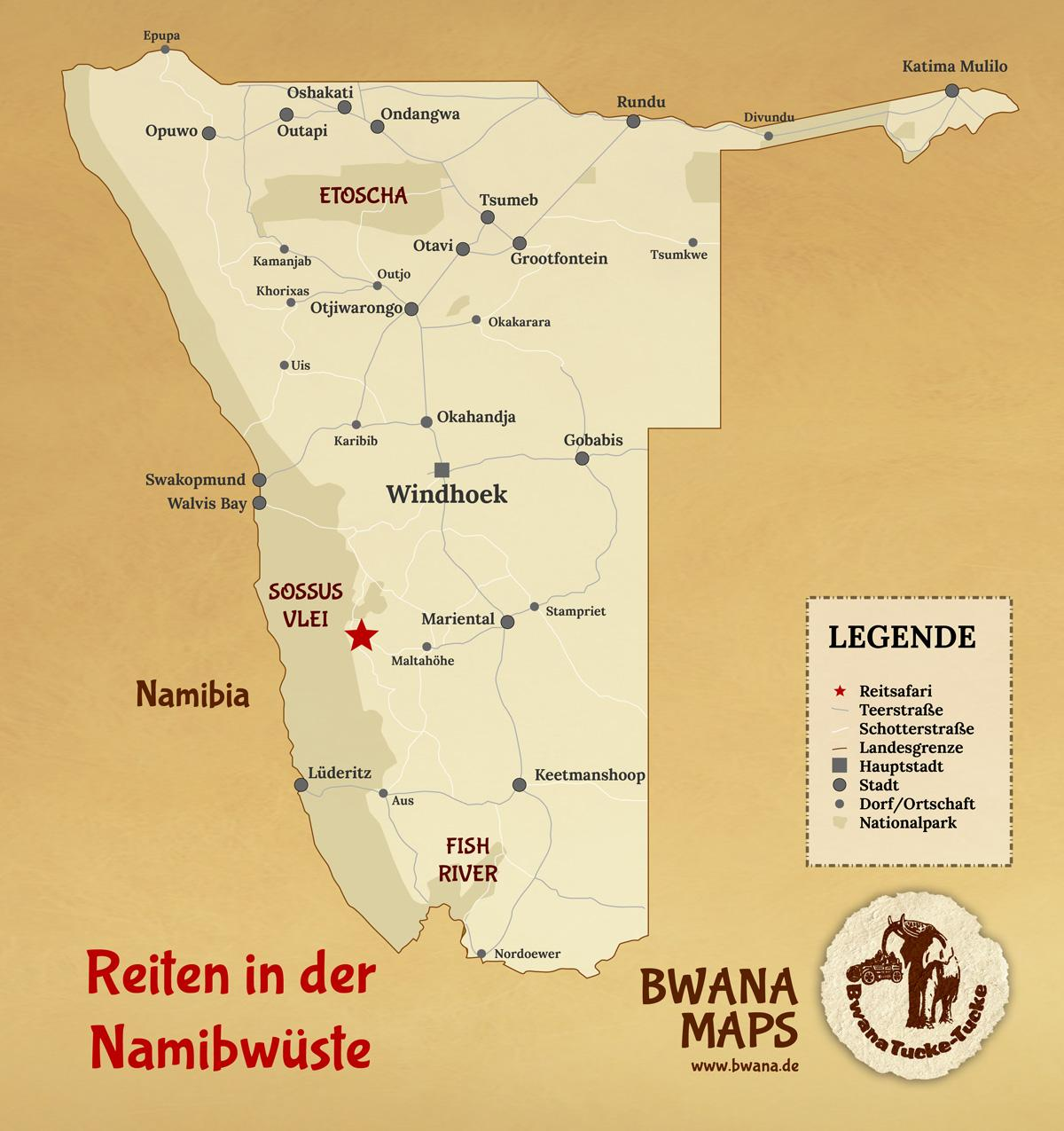 Namib Wüste Karte.Namib Wüste Karte Karte