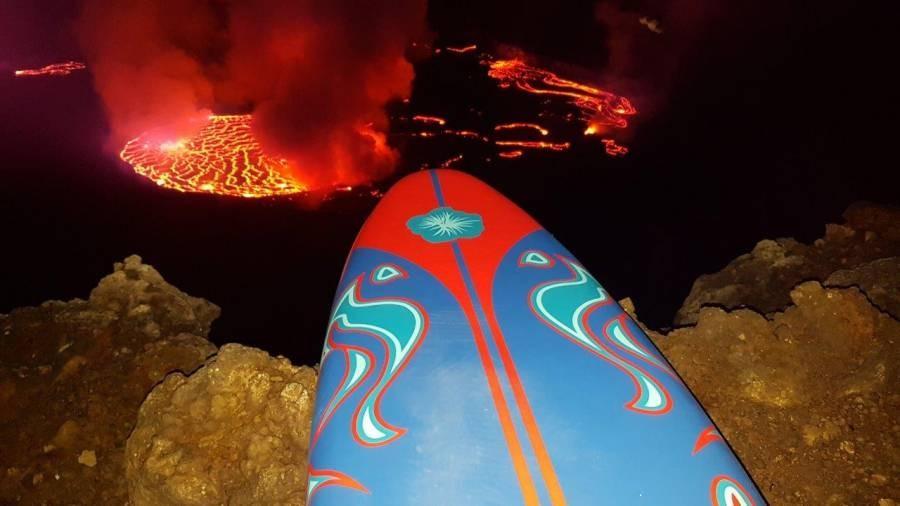 Surfen auf dem Nyiragongo - Brettspiele